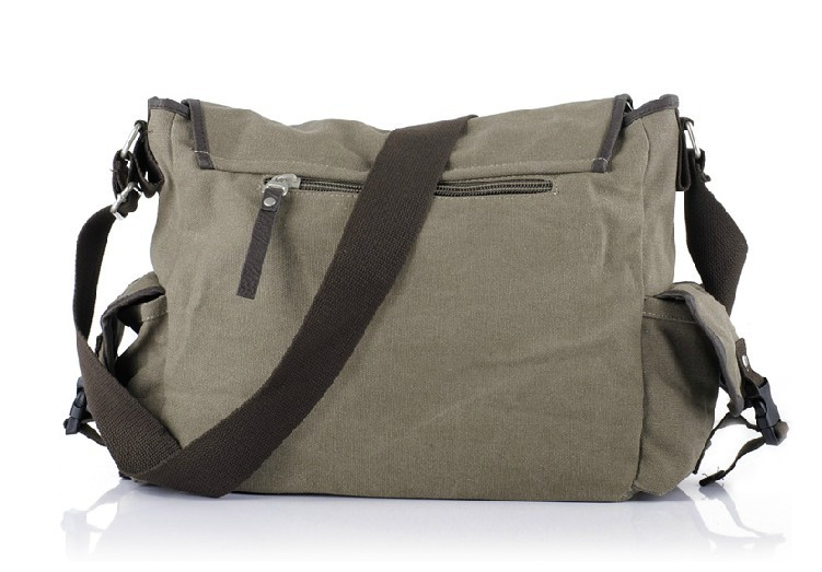 Shoulder Bags For Men Coffee Canvas Mens