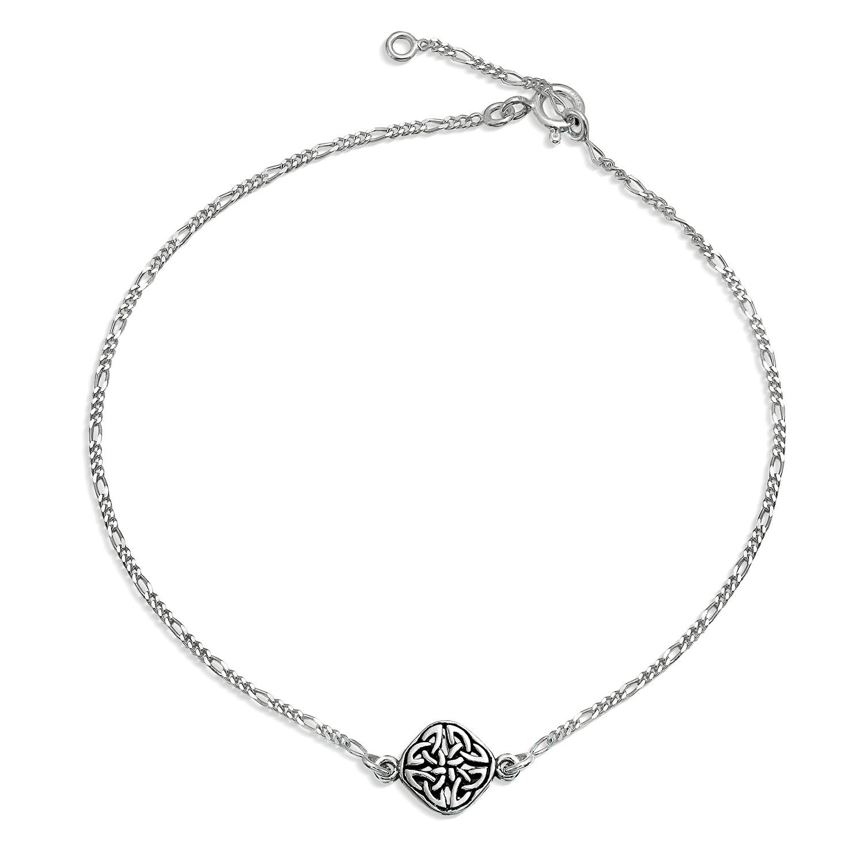 silver anklets bling jewelry 925 sterling silver celtic knot triquetra anklet bracelet hutxmcv
