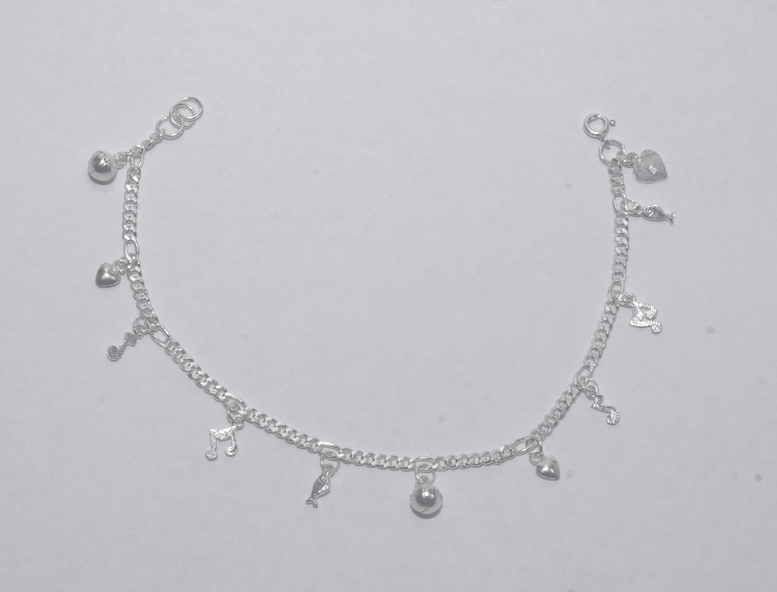 Silver anklets for Charm bell ... jrqitmi