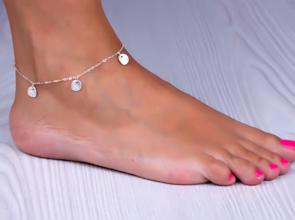 crystal bracelet plated bead silver charm anklet ankle p fashion s new jewelry chain