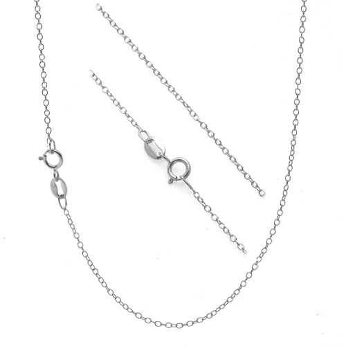 silver chain necklace .925 sterling silver 1mm thin cable chain necklace - 14 gmqfjwr
