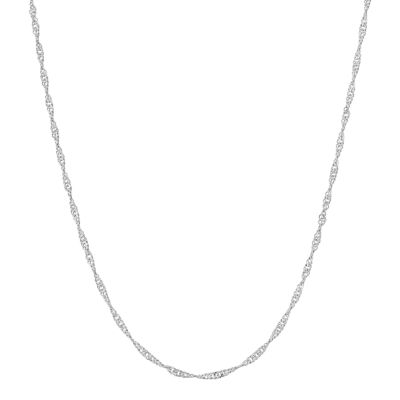 silver chain necklace sterling silver adjustable twisted curb chain necklace lfasvnh