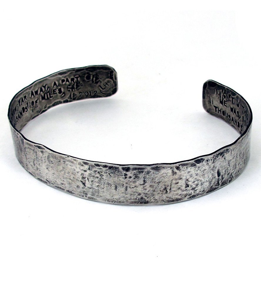 bangle cuff a bracelet silver for touches hand your sterling true reaches friend heart and products