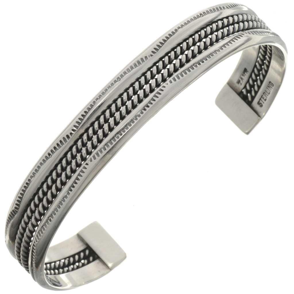 silver cuff bracelet navajo cuff bracelet kuqucir