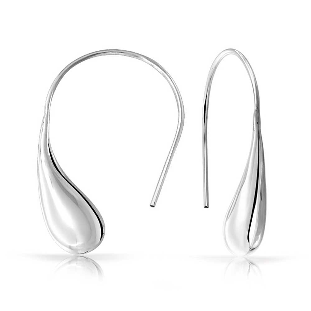 silver drop earrings classic teardrop drop earrings 925 sterling silver utbpmzt