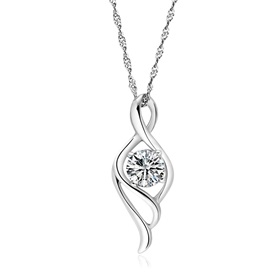 silver necklaces for women womenu0027s 925 sterling silver necklaces pendants gift for her, anniversary,  birthday, wedding, ewhhlxj