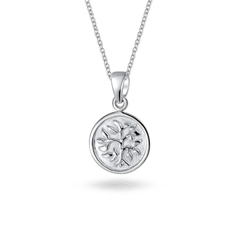 The beauty of silver pendant necklace styleskier silver pendant necklace bling jewelry reversible 925 sterling silver tree of life pendant necklace 18in ekvawcv mozeypictures Gallery