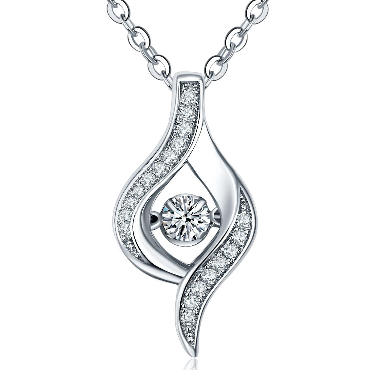 The beauty of silver pendant necklace for Fine jewelry diamond pendants