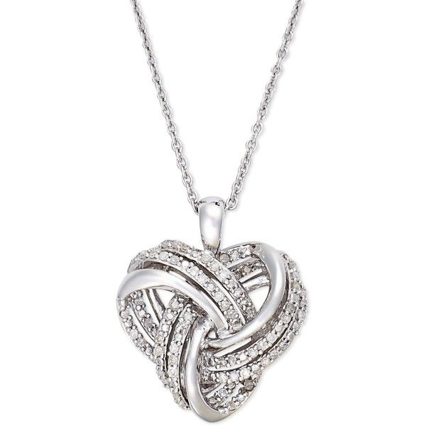silver pendant necklace wrapped in love diamond heart pendant necklace in sterling silver (1/4. tsjkoff