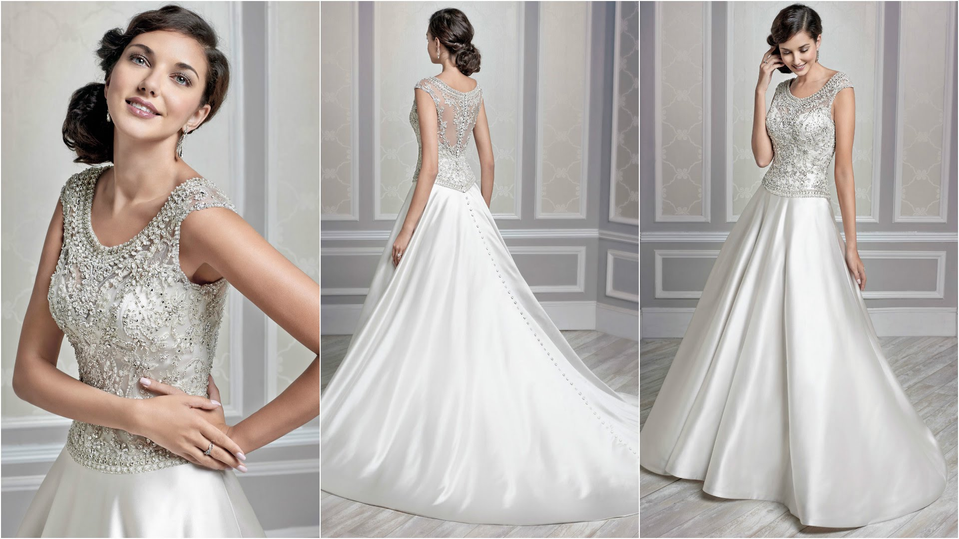 Get Elegantly Outstanding For Your Wedding With A Beautiful Silver Dress