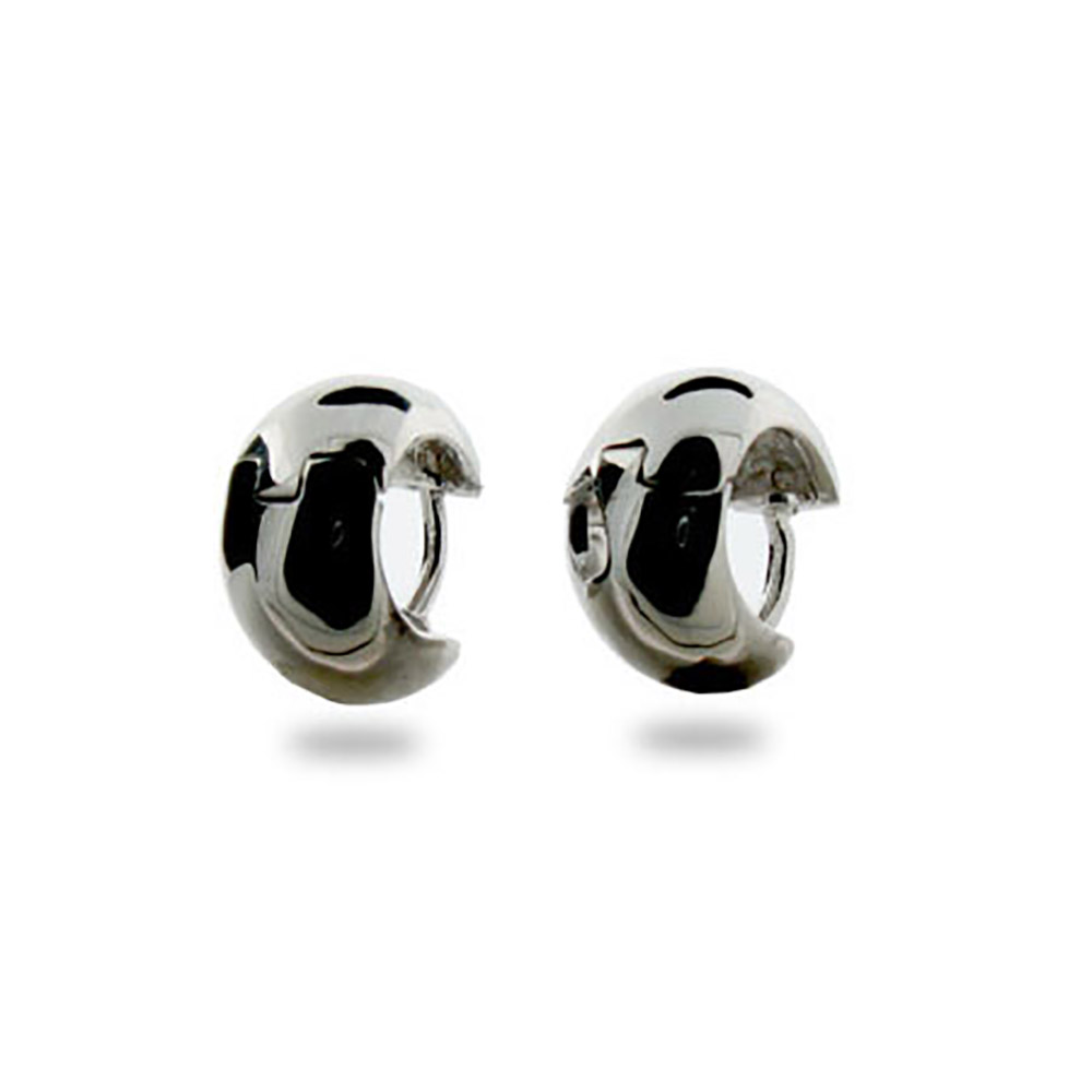 Simple Wide Sterling Silver Mens Earrings Llupqik