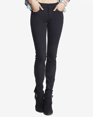 skinny pants black mid rise stretch skinny jeans | express uhyqsxn