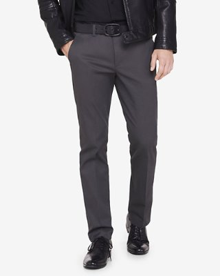 slim fit dress pants skinny innovator gray cotton dress pant | express siwmjof