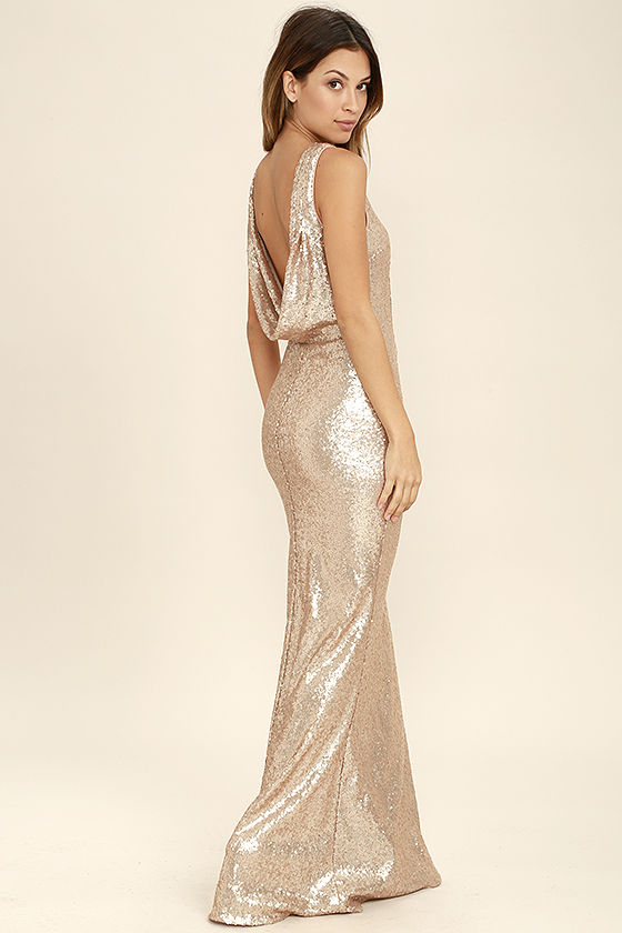 slink and wink matte rose gold sequin maxi dress 1 kukwxom