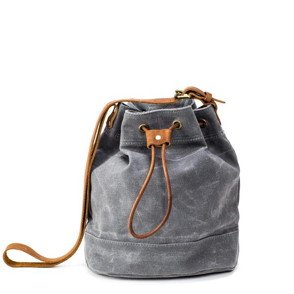 small bags the bucket bag | waxed stone kzhysoz