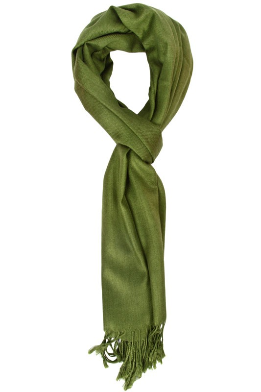 solid forest green scarf byktecq