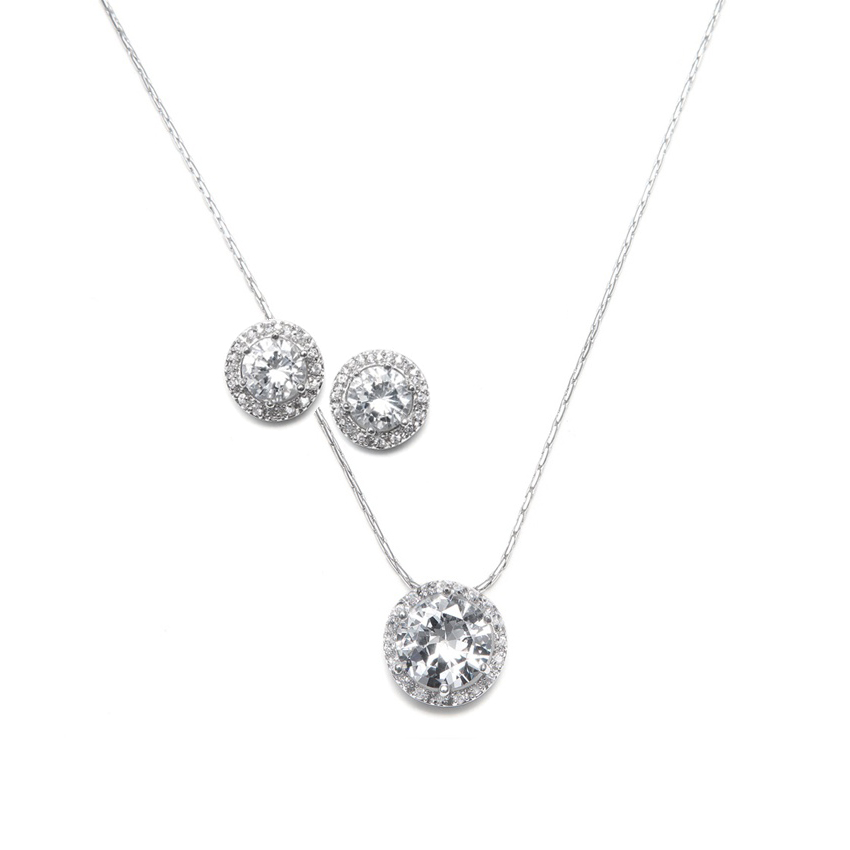 solitaire cz bridesmaid jewelry set miriam xhrcifj
