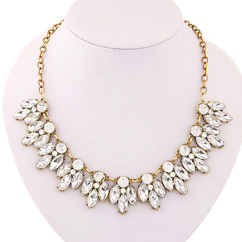 splendid womens bib statement luxury rhinestone necklace for a classic but  elegant design 52mw(china ghjihua