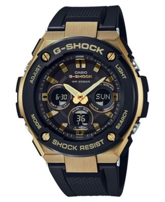 sports watches for men g-shock menu0027s solar analog-digital black resin strap watch 49mm zuywgaf