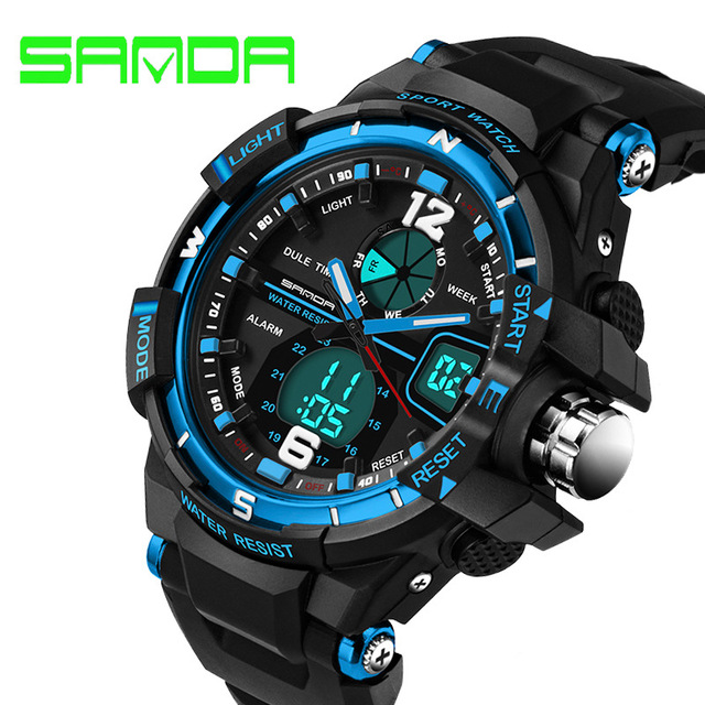 sports watches for men sports cool menu0027s quartz and digital watches sanda luxury brand led  military waterproof watch xehbptt