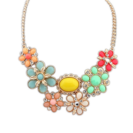 bib il gold necklace peet products floral pzqj fullxfull pink nature mica flower women print for gift anemone statement