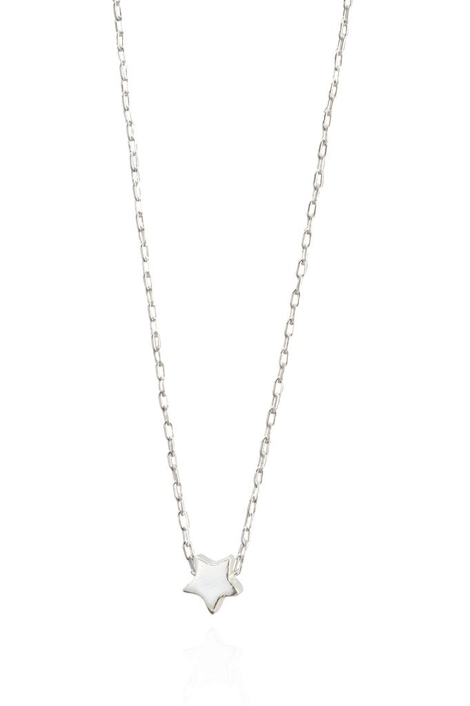 star necklace sterling silver star charm necklace ... giijmlx