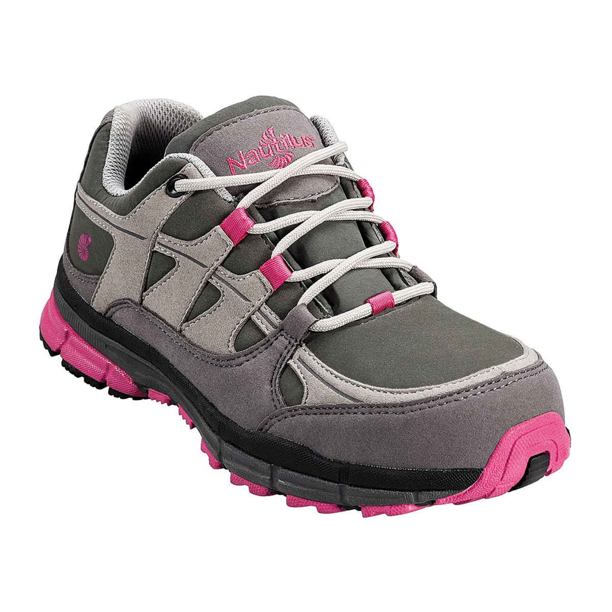steel toe shoes for women nautilus womenu0027s pink and grey steel toe shoe - n1771 losuqpc