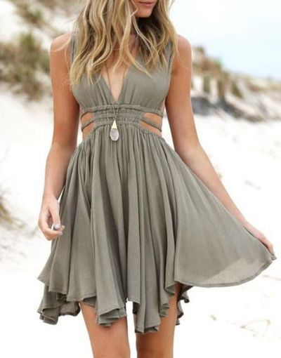summer dress 2016 custom simple v neck chiffon short homecoming dress for teens, cute  shortu2026 axubrnv