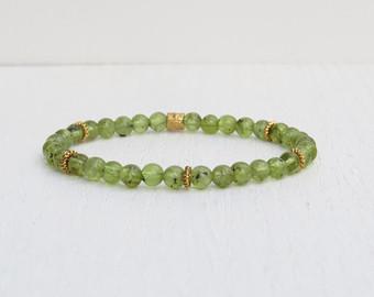 summer sale - peridot bracelet, green bead bracelet, august birthstone  bracelet ybhnfbj