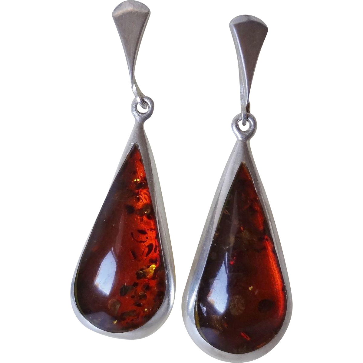 superb early 1900u0027s large baltic amber earrings sterling silver LCHYRAG