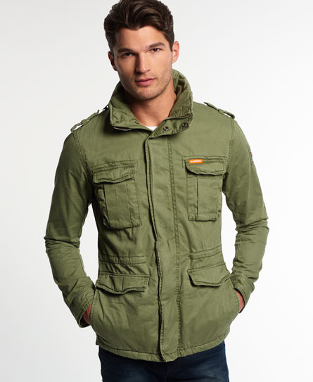superdry rookie military jacket green cfnfjyh