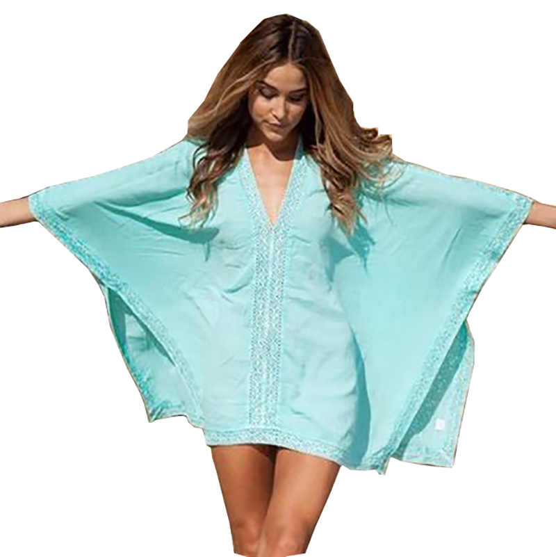 swimsuit coverups new beach cover up cotton v-neck bikini cover up women swimsuit cover up  beachwear tfajvog