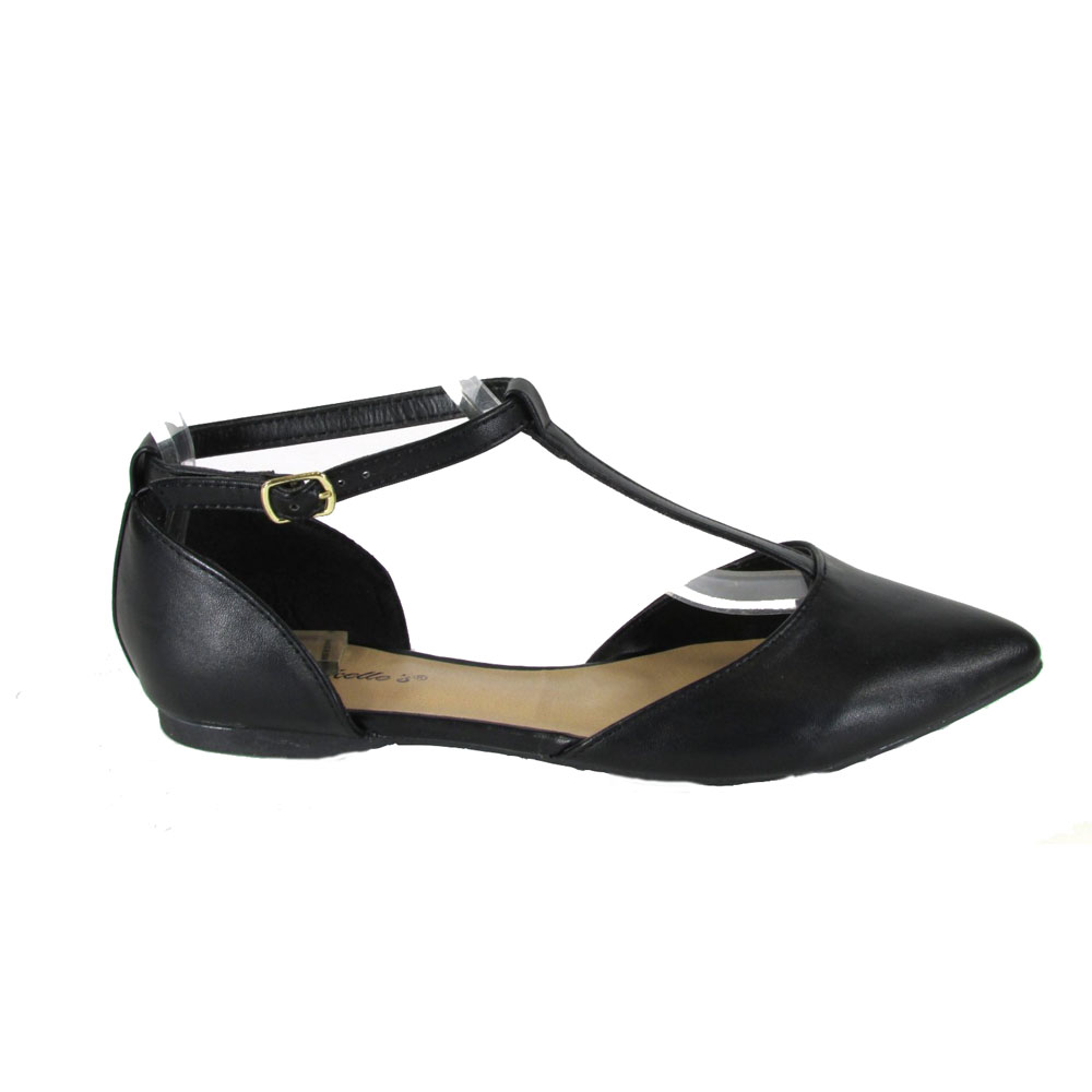 t strap flats breckelleu0027s dolley-26 womenu0027s pointy toe buckle t-strap ballet flats eqyjurw