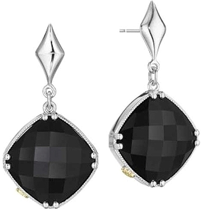 tacori 18k925 black onyx earrings se16719 apjkwbj