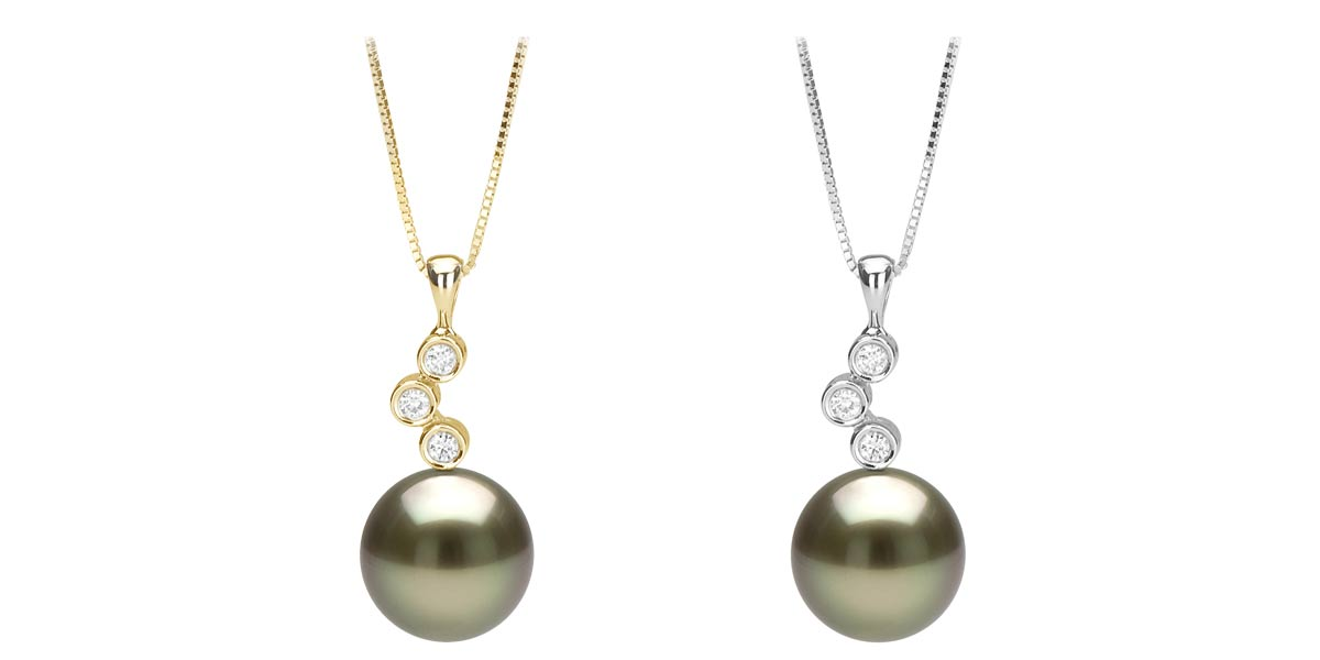 tahitian diamond pearl pendant: all sizes txcaibl