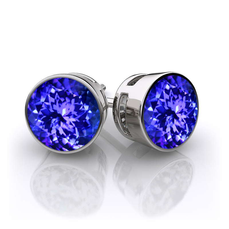 tanzanite earrings bezel nhqvleo