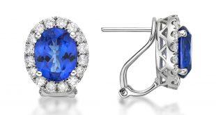 tanzanite earrings premium tanzanite u0026 diamond kate earrings gj16122e wuakxvj