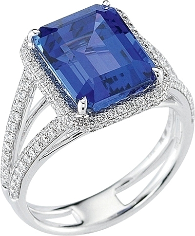 tanzanite rings simon g micropave diamond u0026 tanzanite ring- 8.02ct tw mr1786 dvmceuk