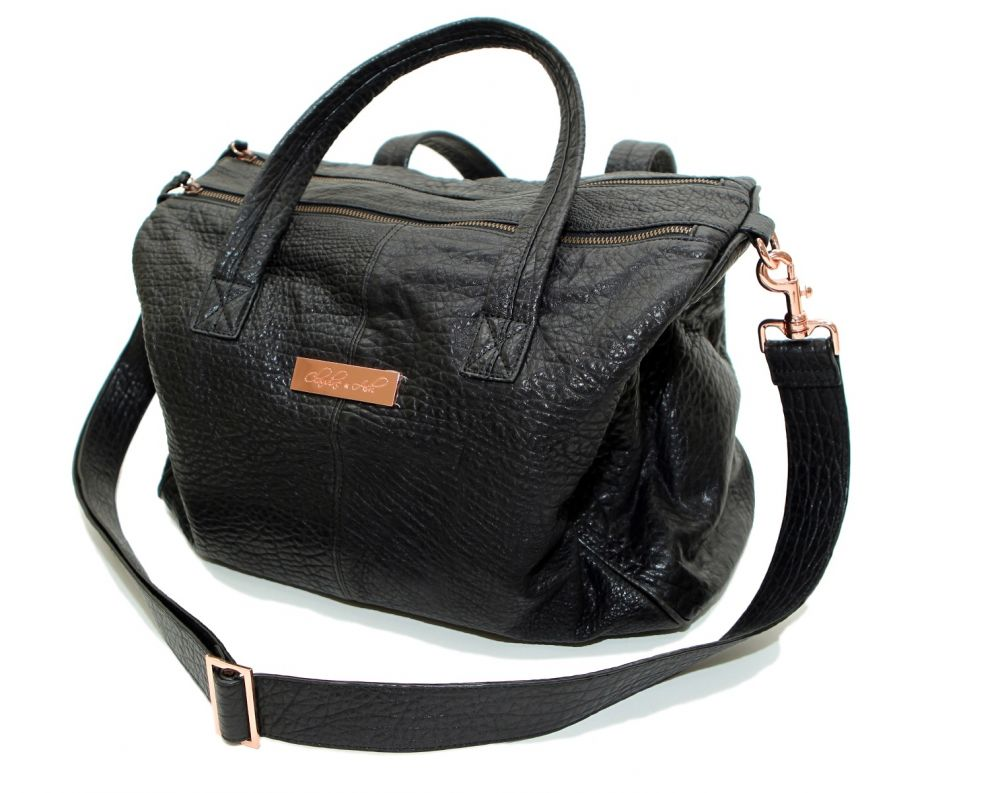 the kalani - leather nappy bag dyvfozy