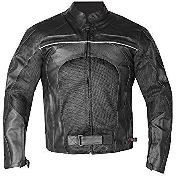 this item razer mens motorcycle leather jacket armor black s oazxuhf