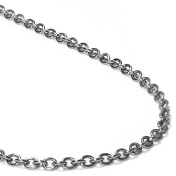 titanium 3mm rolo necklace chain fjxbopw