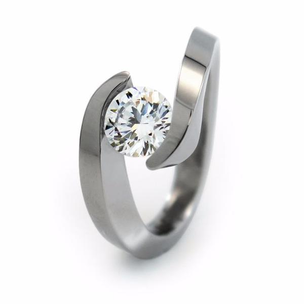 titanium engagement rings stella - solitaire titanium engagement ring - titanium rings akwpktv