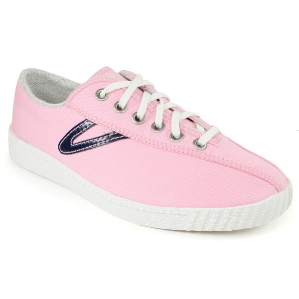 tretorn shoes tretorn tretorn womenu0027s nylite canvas pink/navy shoes dfqcybp