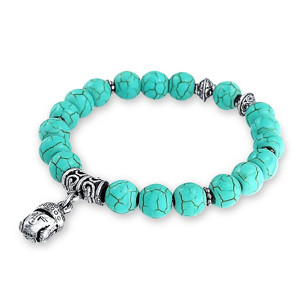 turquoise jewelry bling jewelry turquoise dangling baby buddha charms stretch bracelet 8mm audiyfh
