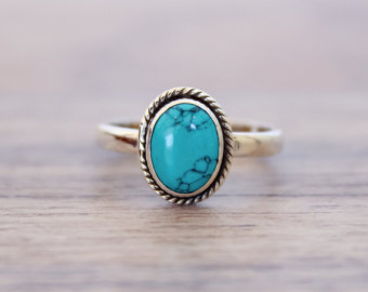 turquoise rings turquoise ring, silver ring, 92.5 solid sterling silver ring, natural  turquoise silver ring pwtatpu