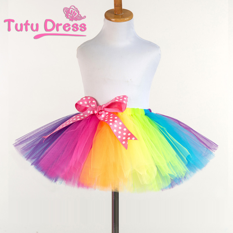 tutu skirts aliexpress.com : buy 2017 new fluffy handmade rainbow tutu skirt colorful  cheap girl skirt owyxmdp