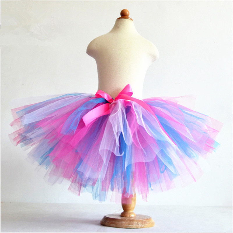 tutu skirts aliexpress.com : buy hot sale summer fluffy 3 layer girls rainbow tutu  skirts baby nkfthyi