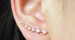 unique earrings rose gold mini star earcuff earring ear cuff long earrings iwxofyr