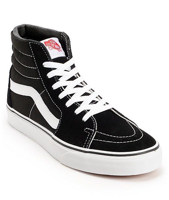 vans shoes vans sk8-hi black u0026 white skate shoes weighmo