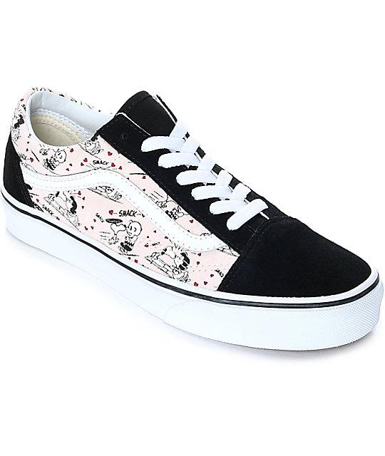 vans shoes vans x peanuts old skool smack pearl skate shoes jeksshg